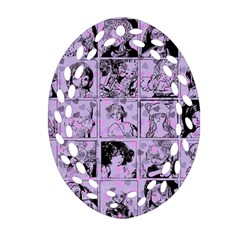 Lilac Yearbook 1 Oval Filigree Ornament (two Sides) by snowwhitegirl