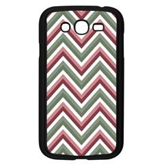 Chevron Blue Pink Samsung Galaxy Grand Duos I9082 Case (black) by snowwhitegirl