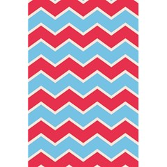 Zigzag Chevron Pattern Blue Red 5 5  X 8 5  Notebooks by snowwhitegirl