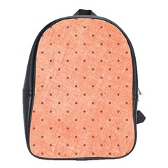 Dot Peach School Bag (large) by snowwhitegirl