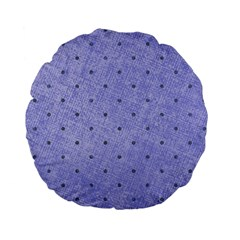 Dot Blue Standard 15  Premium Flano Round Cushions by snowwhitegirl