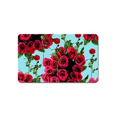 Roses Blue Magnet (name Card) by snowwhitegirl