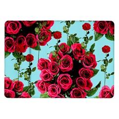 Roses Blue Samsung Galaxy Tab 10 1  P7500 Flip Case