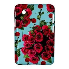 Roses Blue Samsung Galaxy Tab 2 (7 ) P3100 Hardshell Case  by snowwhitegirl