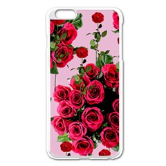 Roses Pink Apple Iphone 6 Plus/6s Plus Enamel White Case by snowwhitegirl