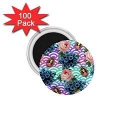 Floral Waves 1 75  Magnets (100 Pack)  by snowwhitegirl