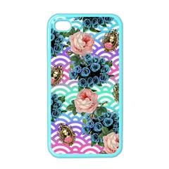 Floral Waves Apple Iphone 4 Case (color) by snowwhitegirl