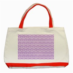 Damask Lilac Classic Tote Bag (red) by snowwhitegirl