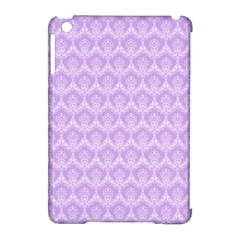 Damask Lilac Apple Ipad Mini Hardshell Case (compatible With Smart Cover) by snowwhitegirl