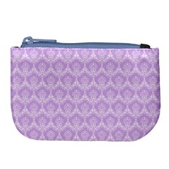 Damask Lilac Large Coin Purse by snowwhitegirl