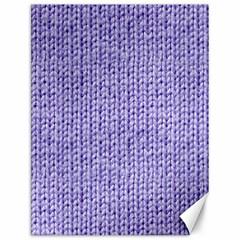 Knitted Wool Lilac Canvas 12  X 16   by snowwhitegirl