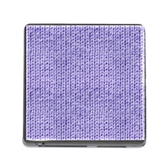 Knitted Wool Lilac Memory Card Reader (square) by snowwhitegirl