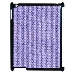 Knitted Wool Lilac Apple Ipad 2 Case (black) by snowwhitegirl