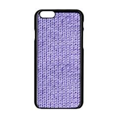 Knitted Wool Lilac Apple Iphone 6/6s Black Enamel Case by snowwhitegirl