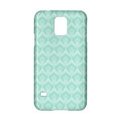 Damask Aqua Green Samsung Galaxy S5 Hardshell Case  by snowwhitegirl