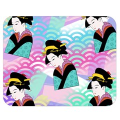 Japanese Abstract Double Sided Flano Blanket (medium)