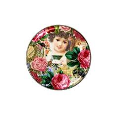 Little Girl Victorian Collage Hat Clip Ball Marker by snowwhitegirl