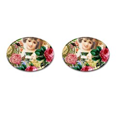 Little Girl Victorian Collage Cufflinks (oval) by snowwhitegirl