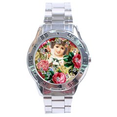 Little Girl Victorian Collage Stainless Steel Analogue Watch by snowwhitegirl
