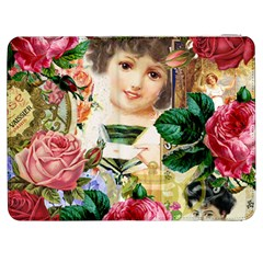 Little Girl Victorian Collage Samsung Galaxy Tab 7  P1000 Flip Case by snowwhitegirl