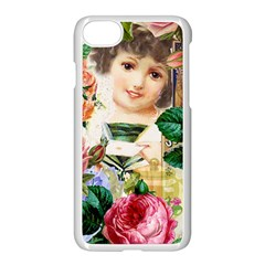 Little Girl Victorian Collage Apple Iphone 7 Seamless Case (white) by snowwhitegirl