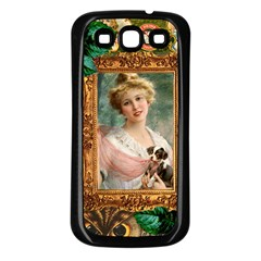 Victorian Collage Of Woman Samsung Galaxy S3 Back Case (black)