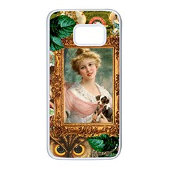 Victorian Collage Of Woman Samsung Galaxy S7 White Seamless Case