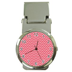 Red Chevron Money Clip Watches by snowwhitegirl