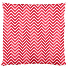 Red Chevron Large Cushion Case (two Sides) by snowwhitegirl