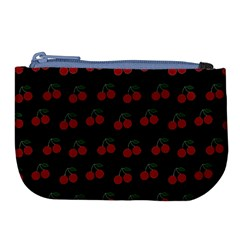 Cherries Black Large Coin Purse by snowwhitegirl
