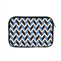 Chevron Blue Brown Apple Macbook Pro 15  Zipper Case by snowwhitegirl
