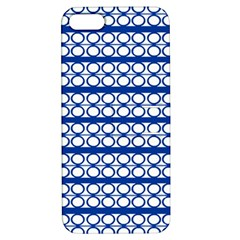 Circles Lines Blue White Apple Iphone 5 Hardshell Case With Stand by BrightVibesDesign