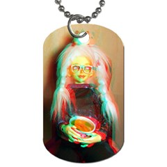 Eating Lunch 3d Dog Tag (two Sides) by snowwhitegirl