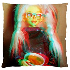 Eating Lunch 3d Large Cushion Case (two Sides)