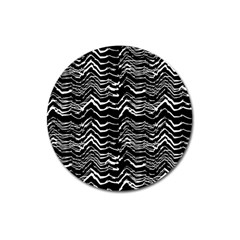 Dark Abstract Pattern Magnet 3  (round) by dflcprints