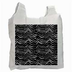 Dark Abstract Pattern Recycle Bag (one Side) by dflcprints
