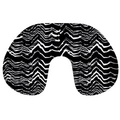 Dark Abstract Pattern Travel Neck Pillows by dflcprints