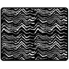 Dark Abstract Pattern Double Sided Fleece Blanket (medium)  by dflcprints