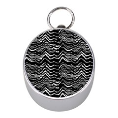Dark Abstract Pattern Mini Silver Compasses by dflcprints