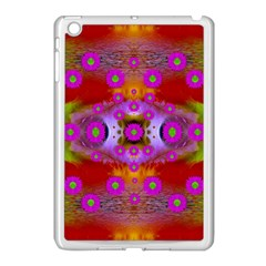 Shimmering Pond With Lotus Bloom Apple Ipad Mini Case (white) by pepitasart