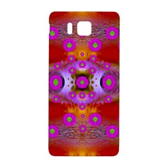Shimmering Pond With Lotus Bloom Samsung Galaxy Alpha Hardshell Back Case by pepitasart