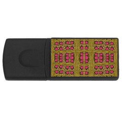 Bloom In Gold Shine And You Shall Be Strong Rectangular Usb Flash Drive by pepitasart