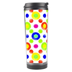 Multicolored Circles Motif Pattern Travel Tumbler by dflcprints