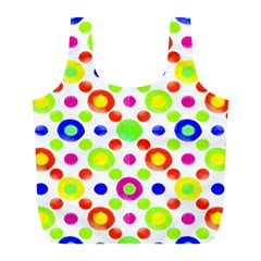 Multicolored Circles Motif Pattern Full Print Recycle Bags (l)  by dflcprints
