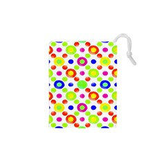 Multicolored Circles Motif Pattern Drawstring Pouches (xs)  by dflcprints