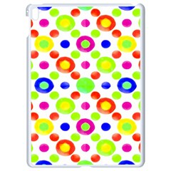 Multicolored Circles Motif Pattern Apple Ipad Pro 9 7   White Seamless Case by dflcprints