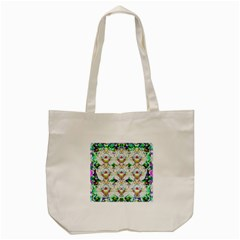 Nine Little Cartoon Dogs In The Green Grass Tote Bag (cream) by pepitasart