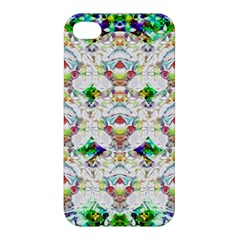 Nine Little Cartoon Dogs In The Green Grass Apple Iphone 4/4s Hardshell Case by pepitasart