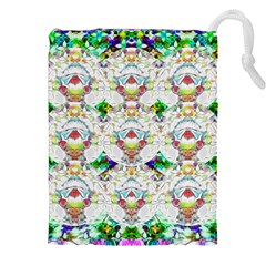 Nine Little Cartoon Dogs In The Green Grass Drawstring Pouches (xxl) by pepitasart