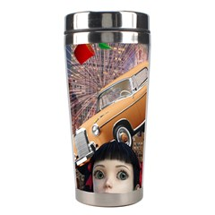 Out In The City Stainless Steel Travel Tumblers by snowwhitegirl